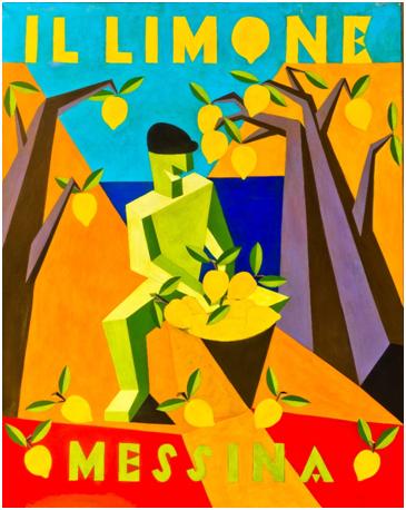 """Fortunato Depero """"Il limone"""" Messina 1926"""