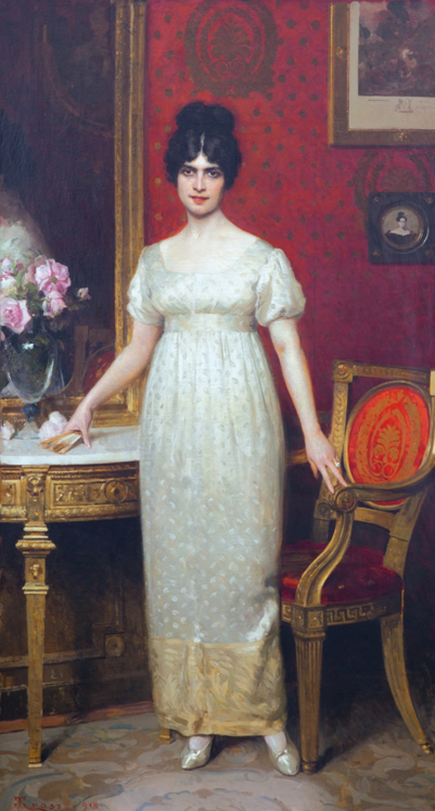 Giacomo Grosso, La contessa Gallo – Olio su tela, 222 x 120 cm